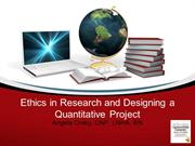 Ethics and Quantitative Research