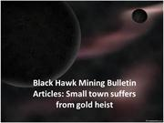 Black Hawk Mining Articles | Black Hawk Mining Bulletin Articles:
