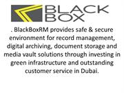 Record Management Solution Dubai - Black Box RM Dubai