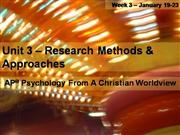 Psychology  Unit  3  -  Research  Methods