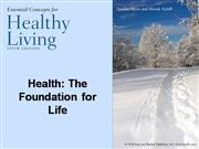 Chapter 1 - Healthy Living