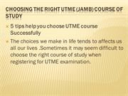 Choosing the Right UTME (JAMB) Course