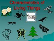 charteristics of living things
