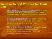 Best Western Inn Elyria, Ohio, Hotels in Elyria Ohio.