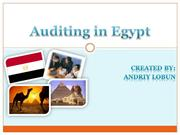 Auditing in Egypt