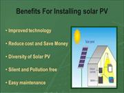 Top 5 Benefits for installing solar PV