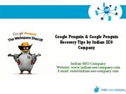Google Penguin Update and Recovery Tips