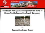 Foundation Damage Knowing When It Is Time To Hire A Florida Foundation