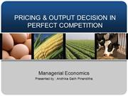 Perfect Competition - Managerial Economics