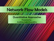 Network flow models