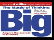 book review- The Magic of thinking BIG