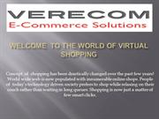 Welcome  To the World of Virtual Shopping