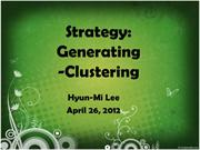 EESL 545 strategy-generating-clustering