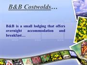 Finding top B&B in Costwolds