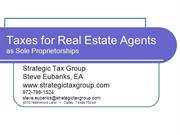 Taxes for Real Estate Agents