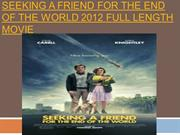 Seeking a Friend for the End of the World 2012 Full Length Movie