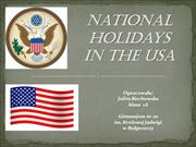 National holidays in the USA
