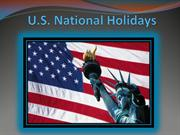 U.S. National Holidays