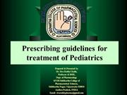 Prescribing guidelines for pediatrics