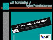 ABC Incorporation and  Payment Protection Insurance