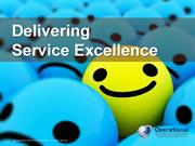 Delivering Service Excellence by Operational Excellence Consulting