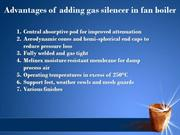 Advantages of adding gas silencer in fan boiler