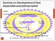 Development of fast  dispersible aceclofenac tablet