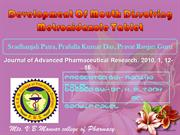 Development Of Mouth Dissolving Metronidazole Tablet
