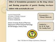 Effect of formulation parameters on the drug release and floating prop