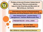 Formulation and Characterization of Matrix and Triple-Layer matrix tab