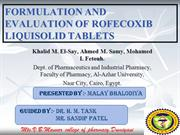 FORMULATION AND EVALUATION OF ROFECOXIB LIQUISOLID TABLETS