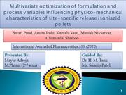 Multivariate optimization of formulation and process variables influen