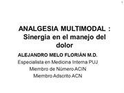Analgesia multimodal y Oxaprozin