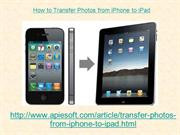 How to Transfer Photos from iPhone to iPad