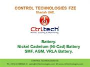 Battery. Nickel Cadmium Battery. Ni-cad battery.SMF, AGE Battery/