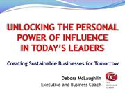 Unlocking the Personal Power of Influence in Today's Leaders