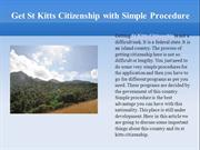 Get St Kitts Citizenship With Simple Procedure