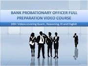 Bank PO Exam Full Preparation Video Course