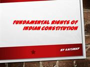 Fundamental Rights of India