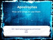 Apostrophes Powerpoint (MS Standard 4b4)