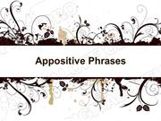 Appositive Phrases Powerpoint (MS Standard 4c4)
