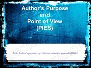 Authors Purpose & Point of View Powerpoint (MS Standard 2d1 & 2d4)