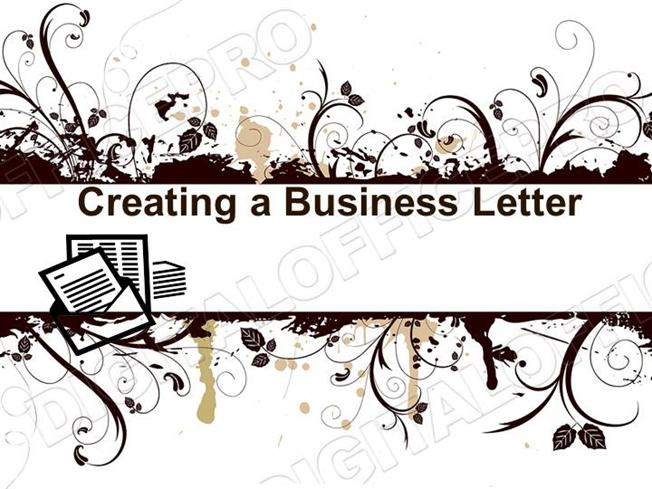 Business letter powerpoint ms standard 3d2 authorstream toneelgroepblik Image collections