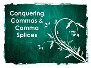 Commas & Comma Splices Powerpoint (MS Standards 4b3 & 4c3)
