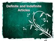 Definite & Indefinite Articles Powerpoint (MS Standard 4a5)
