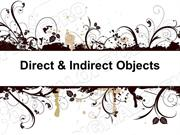 Direct & Indirect Objects Powerpoint (MS Standard 4a1)