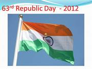 63rd Republic Day  - 2012ppt