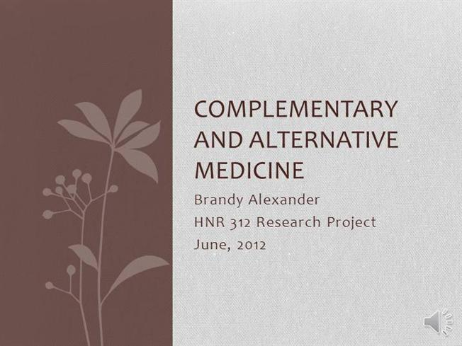 complmentary and alternative medicine essay
