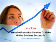 Website Promotion Services To Make Online Business Successful