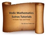 Vedic Mathematics Tutorials | WizIQ